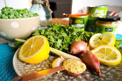 Thaise erwtensoep-ingredienten